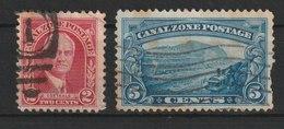 MiNr. 85, 87, 89  Panama-Kanalzone,  1928, 3. Okt./1975, 14. Febr. Freimarken: Persönlichkeiten, Landschaft. - Panama