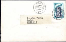 1958 Lettre  Luxembourg Vers Luzern,Cachet Differdange, Michel 557: 4F Bleu - Luxembourg