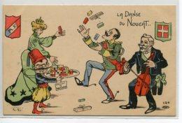 POLITIQUE Satirique La Dande Du Nougat Illustrateur NORWINS ? - 1900 Dos Non Divisé      /D26-2018 - Satiriques