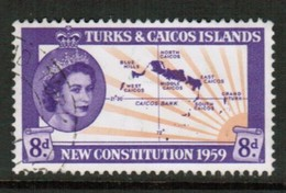 TURKS & CAICOS ISLANDS   Scott # 137 VF USED (Stamp Scan # 434) - Turks & Caicos (I. Turques Et Caïques)