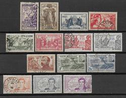 COTE D'IVOIRE - SERIES COMPLETES  YVERT N° 133/138 + 139 + 141/145 + 169/170 OBLITERES  - COTE = 26 EUR. - Ivory Coast (1892-1944)