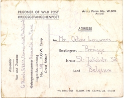 Oorlog Guerre - Prisoner Of War Post - Kriegsgefangenenlager - Newcastle On Tyne - Brugge 1946 - Documents