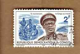 République Démocratique Du Congo.(COB-OBP)  1966 - N°617  *GENERAL MOBUTU*    2F  Oblitéré - Republic Of Congo (1960-64)