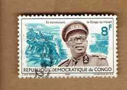 République Démocratique Du Congo.(COB-OBP)  1966 - N°620  *GENERAL MOBUTU*    8F  Oblitéré - Republic Of Congo (1960-64)