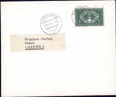1957 Lettre Differdange Vers Luzern 2, Michel 554 4F Vert-foncé - Lettres & Documents