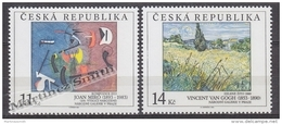 Czech Republic - Tcheque 1993 Yvert 25-26 Art,  Paintings National Gallery, Miro & Van Gogh - MNH - Tchéquie
