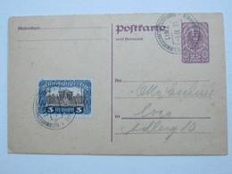1921 , Linz - Kleinwirtschaftsausstellung , Klarer Sonderstempel Auf Karte - 1918-1945 1. Republik