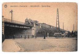 Malines Mechelen Pont De Fer Ijzeren Brug Train Hermans 1920 - Mechelen
