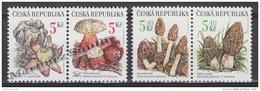 Czech Republic - Tcheque 2000 Yvert 241-44 Protection Of Nature, Mushrooms - MNH - Tchéquie