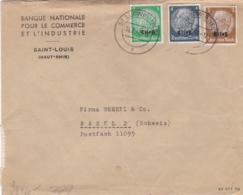 Divers Hindenburg Surchargés Elsas Sur Lettre De 1941 Pour La Suisse Avec Censure Allemande Au Verso - Guerre De 1939-45