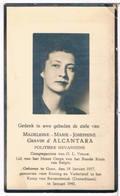 Dp.Oorlog.Gravin D'Alcantara Madeleine.Politieke Gevangene.° Gent 1917 † Kamp V. Ravensbrück (Duitsland) 1945 (2 Scan's) - Religion & Esotérisme
