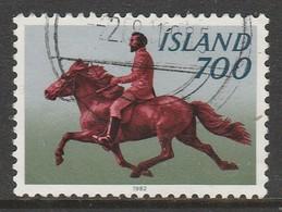 Iceland 1982 Icelandic Pony With Rider Multicoloured SW 585 O Used - 1944-... Republic