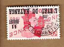 KATANGA.(COB-OBP)  1960 - N°41  *SURCHARGE 11 JUILLET DE L'ETAT DU KATANGA*    50c  Oblitéré ELISABETHSTAD - Katanga