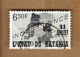 KATANGA.(COB-OBP)  1960 - N°47  *SURCHARGE 11 JUILLET DE L'ETAT DU KATANGA*    6,50F  Oblitéré - Katanga