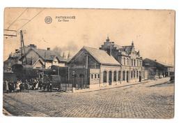 Paturages La Gare Albert Train Bon état 1923 édition Ballez Colmant - Colfontaine
