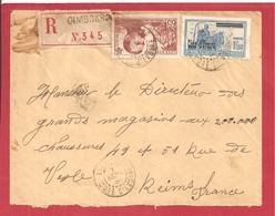 Y&T N°101+139   ABIDJAN Vers  FRANCE 1938  2 SCANS - Côte-d'Ivoire (1892-1944)