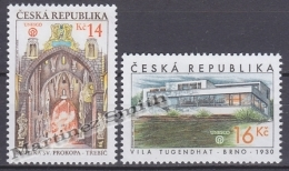 Czech Republic - Tcheque 2005 Yvert 394/95, Beauties Of Our Country: Saint Prokop Basilica - MNH - República Checa