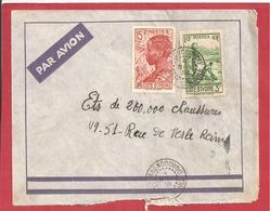 Y&T N°129+114 ABENGOUROU    Vers  FRANCE 1938  2 SCANS - Côte-d'Ivoire (1892-1944)