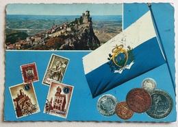 SAN MARINO - RETRO FRANCOBOLLI ZODIACO  - VIAGGIATA FG - San Marino