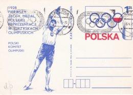 Poland Postal Stationary 1975 Poland Got 1st Medal In Olympic Games 1928 St. Moritz - Used (DD24-48) - Winter 1928: St-Moritz