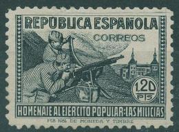 España 1938. Edifil 797** - Cat. 2016: 310€ - Homenaje Al Ejército Popular - 1931-50 Nuevos & Fijasellos