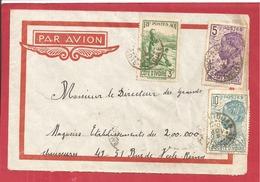 Y&T N°129+112+113  ABIDJAN Vers  FRANCE 1938  2 SCANS - Côte-d'Ivoire (1892-1944)