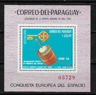 #B112A# PARAGUAY MICHEL BL 134 MNH**, SPACE. - Paraguay
