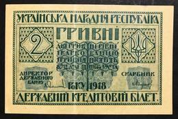 Ucraina 1918 2 Hryven  Lotto 1818 - Ukraine