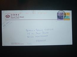 LETTRE Pour La FRANCE TP S 2 50 + TP S 1 OBL. + ROYAL PARK HOTEL - 1997-... Chinese Admnistrative Region