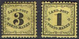 ALLEMAGNE ! Timbres Anciens TAXE De BADE De 1862 N°1 Et 2 - Baden