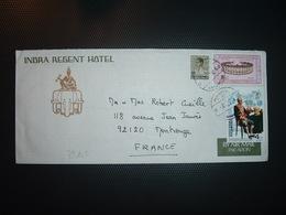 LETTRE Pour La FRANCE TP 4 B + TP 6 B +TP 50 OBL. + INDRA REGENT HOTEL + ELEPHANT - Thaïlande