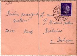 "Latvia Lettland Pc With Cancel KALNOZOLS ""A"" 20.4.1943. - Lettonie"