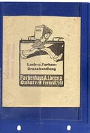 ##(ROYBOX1)-Germany 1910-  Advertising Cover,  Paints And Colors Farbenhaus A.Lorenz Chemnitz - Germania