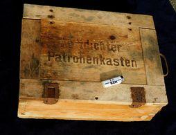 "ALLEMAGNE 39-45 CAISSE CARTOUCHES "" LUFTDICHTER PATRONENKASTEN "" à Voir ......... - Decorative Weapons"