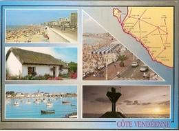 France & Greetings From La Cote Vendeenne Sables D'Olonne, Multi, Saint-Jean-de-Monts, Livry-Gargan 1999 (8226) - Souvenir De...