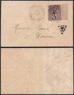 Colonies Francaises - Lettre Taxé Nouvelle Calédonie 1900 (5G23704) DC1129 - Nouvelle-Calédonie