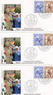 °°° 3 Fdc Affrancate Con Francobolli Viaggi Del Papa °°° - Lettres & Documents