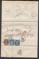 France 1872 Yv 30 + 60 X2 Sur Lettre De Nancy  Vers New York AFFRANCHISSEMENT INSSUF (4G31246) DC-1117 - 1871-1875 Cérès