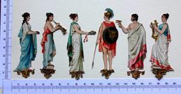 6 CHROMOS DECOUPIS .....H  8 Cm....PERSONNAGES ROMAINS - Immagine Tagliata