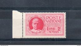 Vatican. Exprès. 2l. 1929 - Exprès