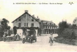CPA N°24438 - MENETOU-SALON - LE CHATEAU - ECURIE ET GARAGE - REPRODUCTION - France