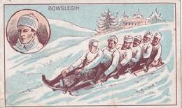 Vers 1900 Belle Illustration Sur Le Bobsleigh Ou Bowsleigh (au Dos Publicité Bonzel Chicorée à Haubourdin Nord) - Cartes Postales