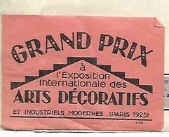 Facture Avec Vignette Expo ARTS DECORATIFS 1925 à PARIS / G. MAIN / Eclairage électrique - 1900 – 1949
