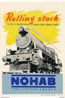 Schweden Eisenbahn Vignette Trollhättan NOHAB Rolling Stock Lokomotive - Eisenbahnverkehr