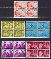 1966 Kinderzegels Postfrisse Serie In Blokken Van 4 NVPH 870 / 874 - Period 1949-1980 (Juliana)