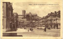 LIèGE  BD De La Sauvenière Et La Basilique St Martin. - Liege
