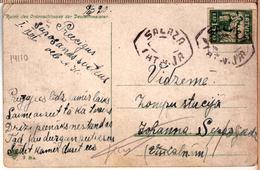 Latvia Lettland Pc With Provisorien Cancel SALAZA 9.04.1920.double Oval Mark! - Lettonie