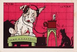 Vers 1920 Signée Ray Lambert / CHIEN, CHAT , RADIO , TSF - Illustrators & Photographers