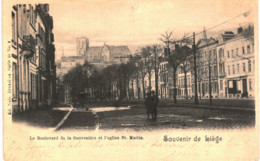 LIèGE   Le Boulevard De La Sauvenière Et L' église St Martin. - Liege