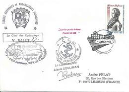 YT 168 - Joseph Marion Dufresne - Escale Du Marion Dufresne à Fremantle - Australie - Terres Australes Et Antarctiques Françaises (TAAF)